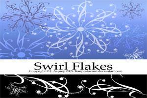 Swirl Flakes by Tempestazure