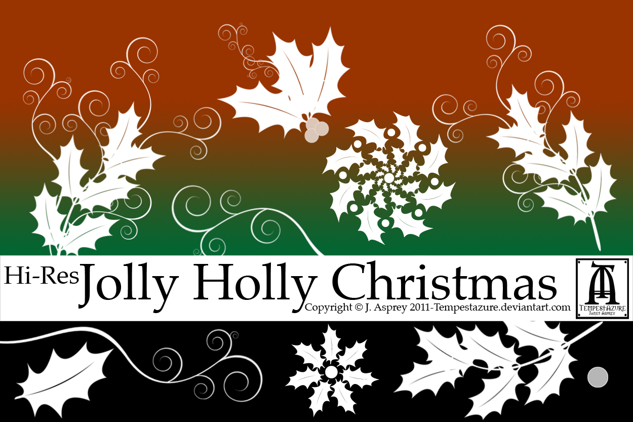 Jolly Holly Christmas by Tempestazure