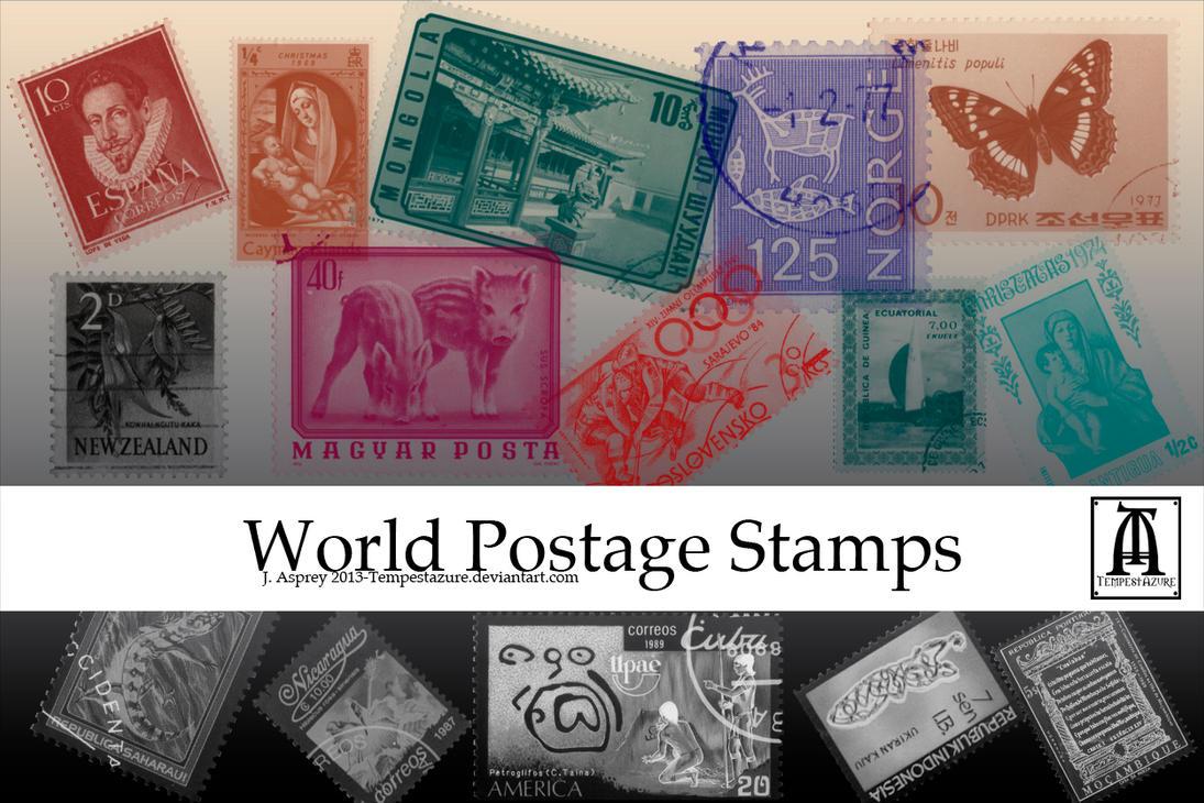 World Postage Stamps by Tempestazure