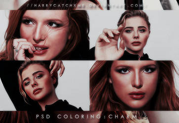 PSD COLORING #6   Charm by harrycatchxme