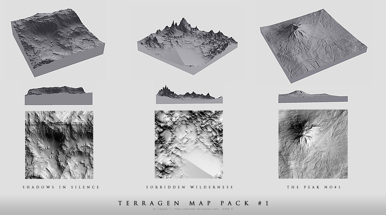 Terragen Map Pack No.1 by cagdasyoldas