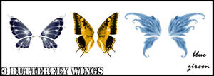 3 Butterfy Wings PNG