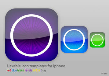 Likable iphone icon template by EdLewis