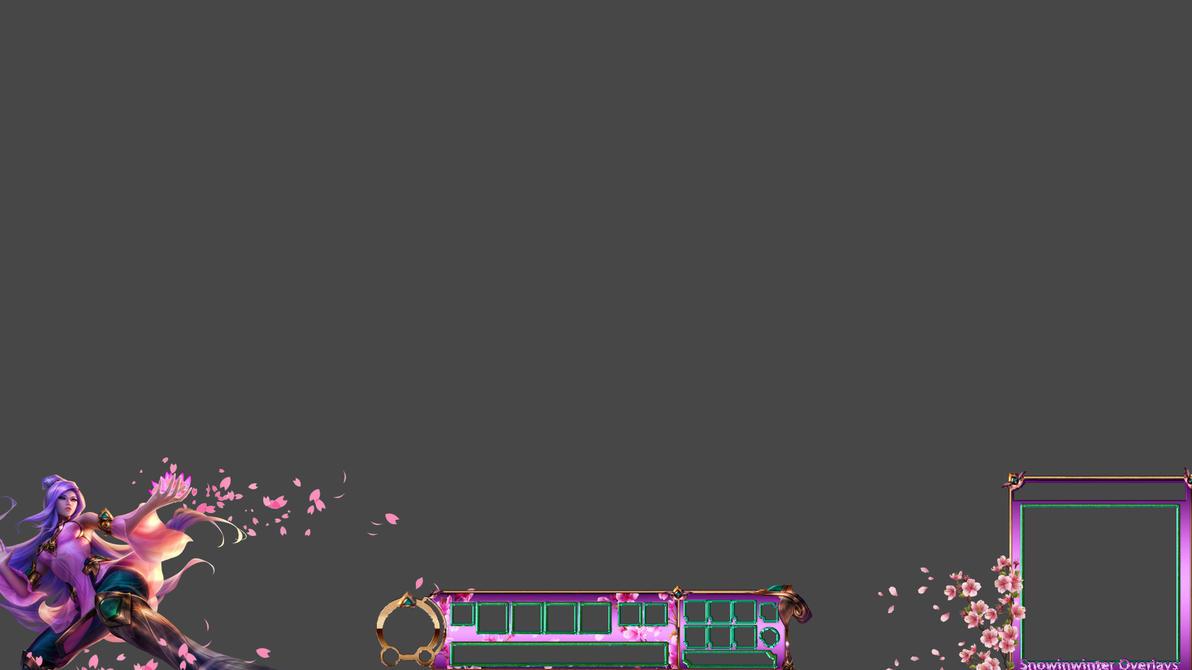 Flower Lotus Irelia Stream Overlay Free by SnOwInWiNtEr