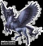 Free lineart: Pegasus Leap