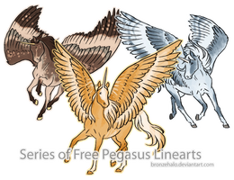 39 Free Pegasus Linearts by BronzeHalo