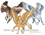 39 Free Pegasus Linearts