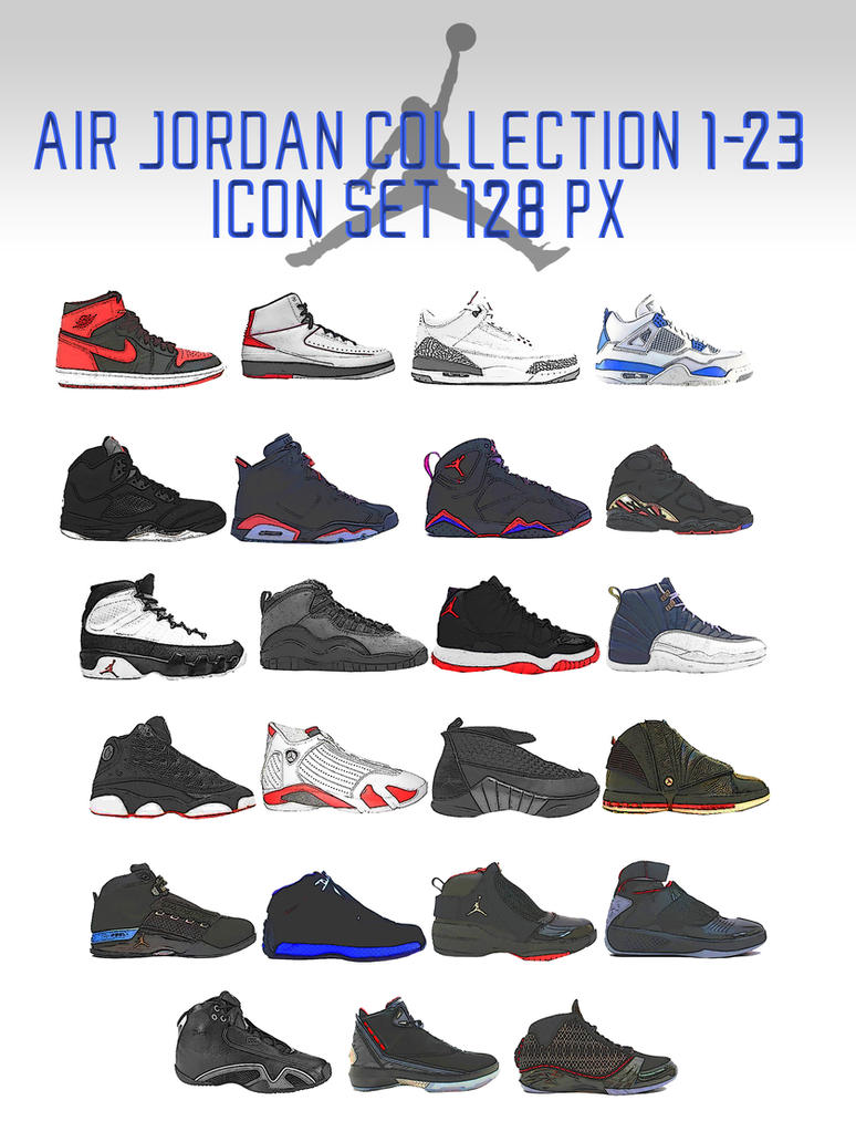 Air Jordan Collection 1 23 Icon Set By Trentsxwife