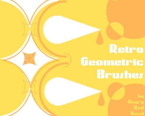 Retro Geometric Brushes