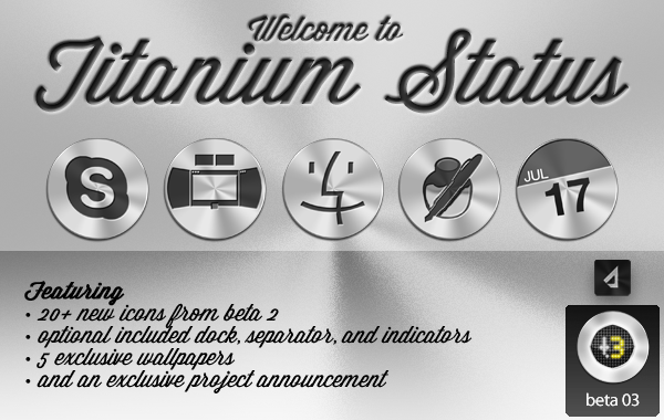 Titanium Icon Set - Beta 3 by StreamingPixels