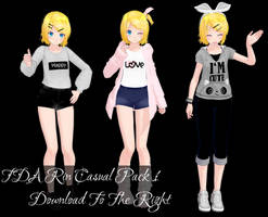 TDA Rin Casual Pack 1 Download [MMD] by Yuu2002