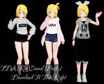 TDA Rin Casual Pack 1 Download [MMD]