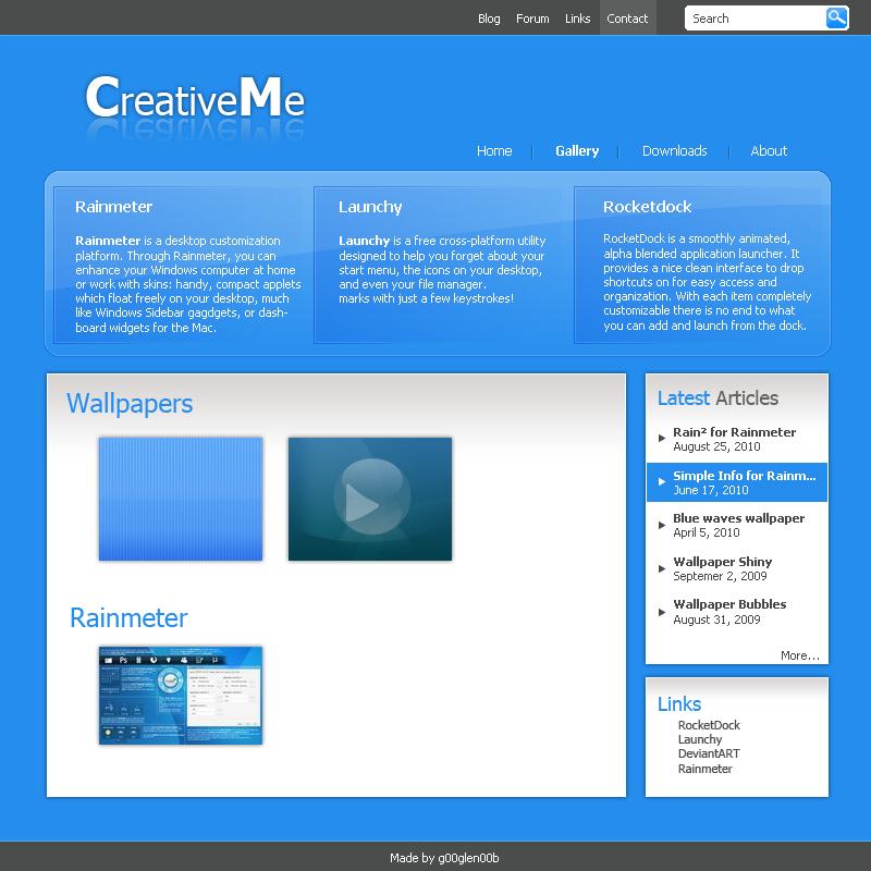 CreativeMe Webdesign by g00glen00b