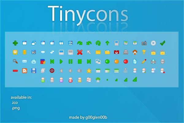 Tinycons by g00glen00b