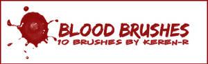 BLOOD brushes .