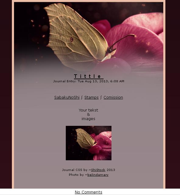 Journal skin - Romantic butterfly [instalator] by ShiStock