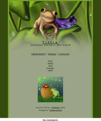 Journal skin - Frogs after rain [instalator]