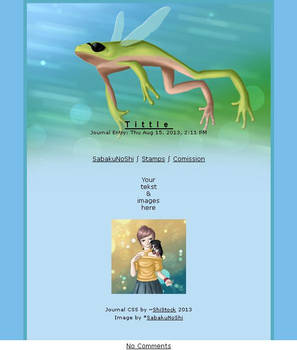 Journal skin - Flying frog [instalator]
