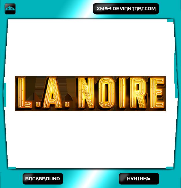 LA Noire YouTube Background + Avatars by XM94
