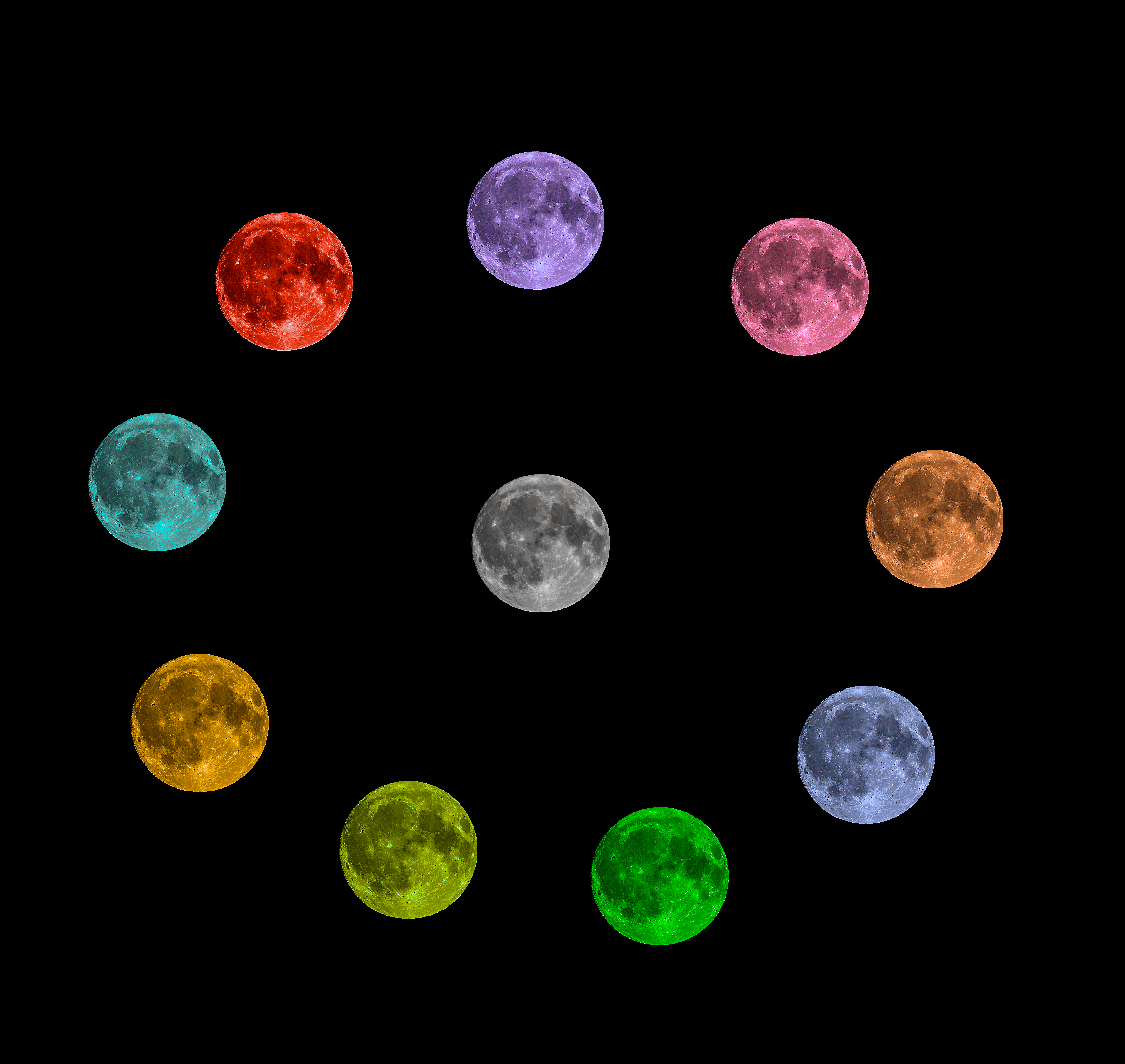 Full Moon 10 Color Stock Pack by mitsubishiman