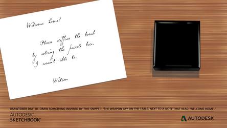 Drawtober 18 - A Note from Watson