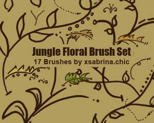Jungle Floral Brushes