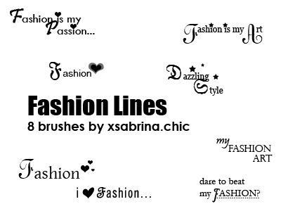 Fashion Line Brushes