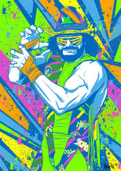 Macho Man Randy Savage - Total Wrestling mag cover