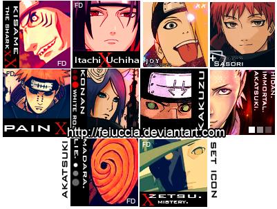Akatsuki 100x100 icons by Feiuccia on DeviantArt