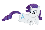 Rarity Lying Down and Waiting (Vector)