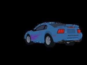 Azure Blue Mustang (vector)