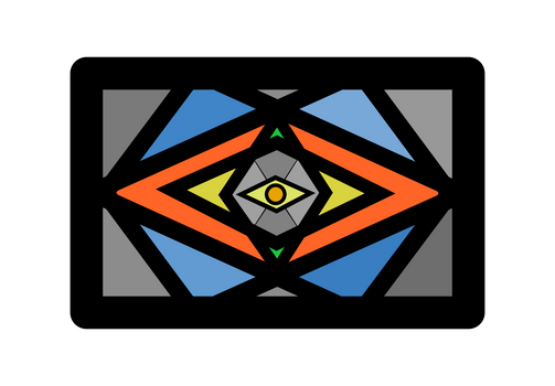 Evil Eye Stained Glass