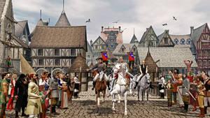 Belvor IV enters town by jmb200960