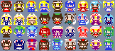 NES-style pixel art from Touhou Project by ykkb