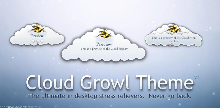 Cloud Growl Theme by c55inator
