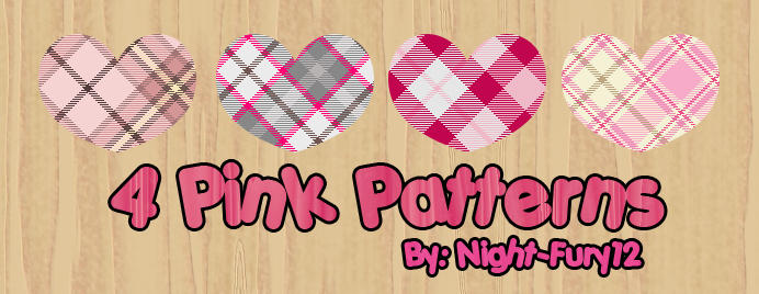 4 Pink Patterns by Night-Fury12