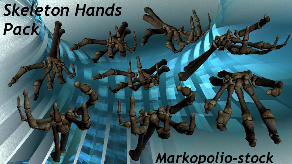 Skeleton Hand Set - Nov 28 07 by markopolio-stock