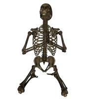 Skeleton - Praying Front by markopolio-stock