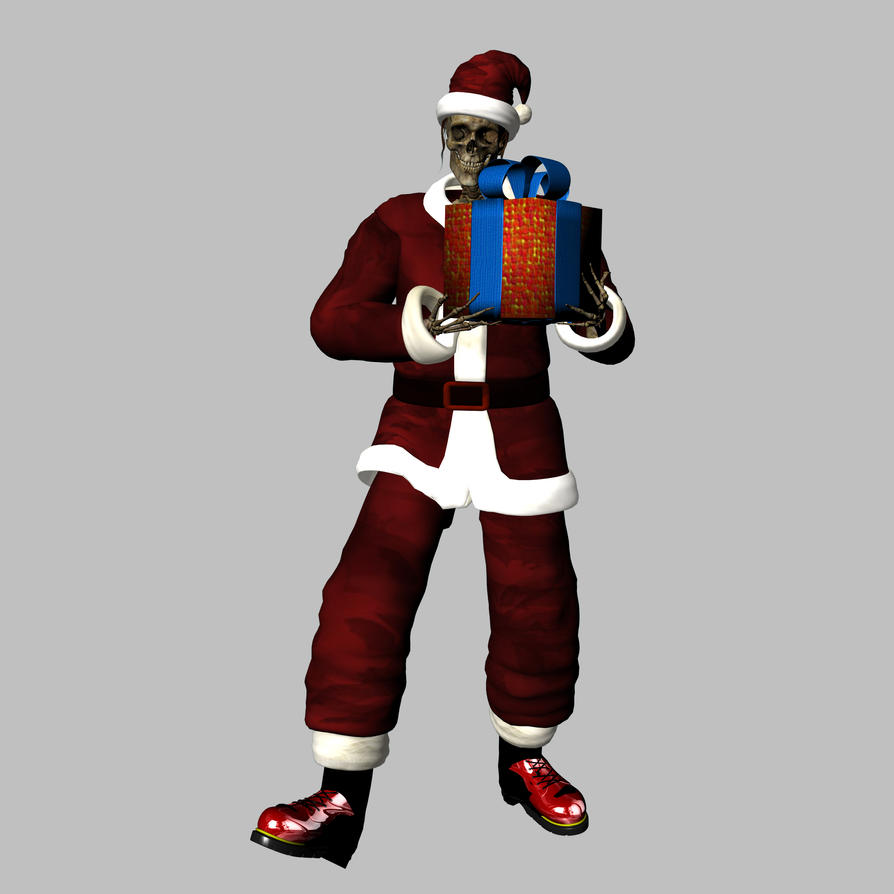 Skeleton - Santa by markopolio-stock