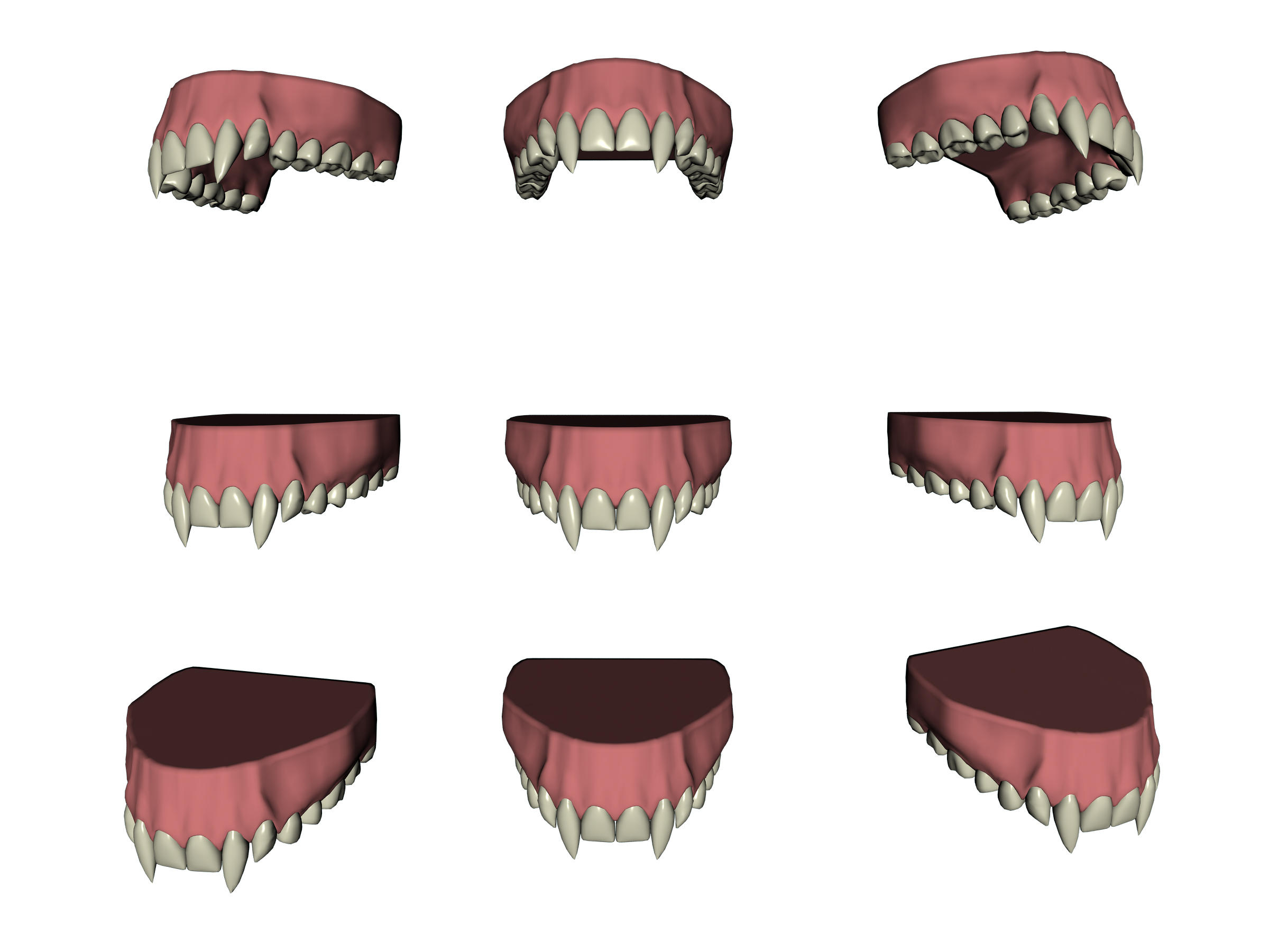 Vampire Teeth Set 1 by markopolio-stock