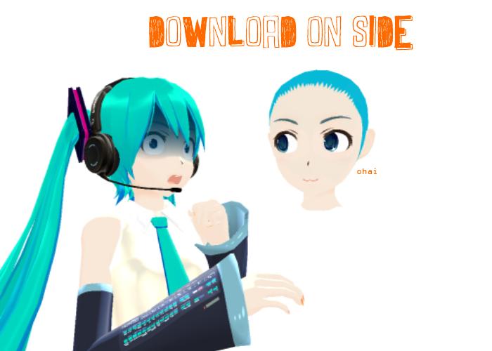 .:MMD:. Zeze Miku Head DL by MMD-Rawrz