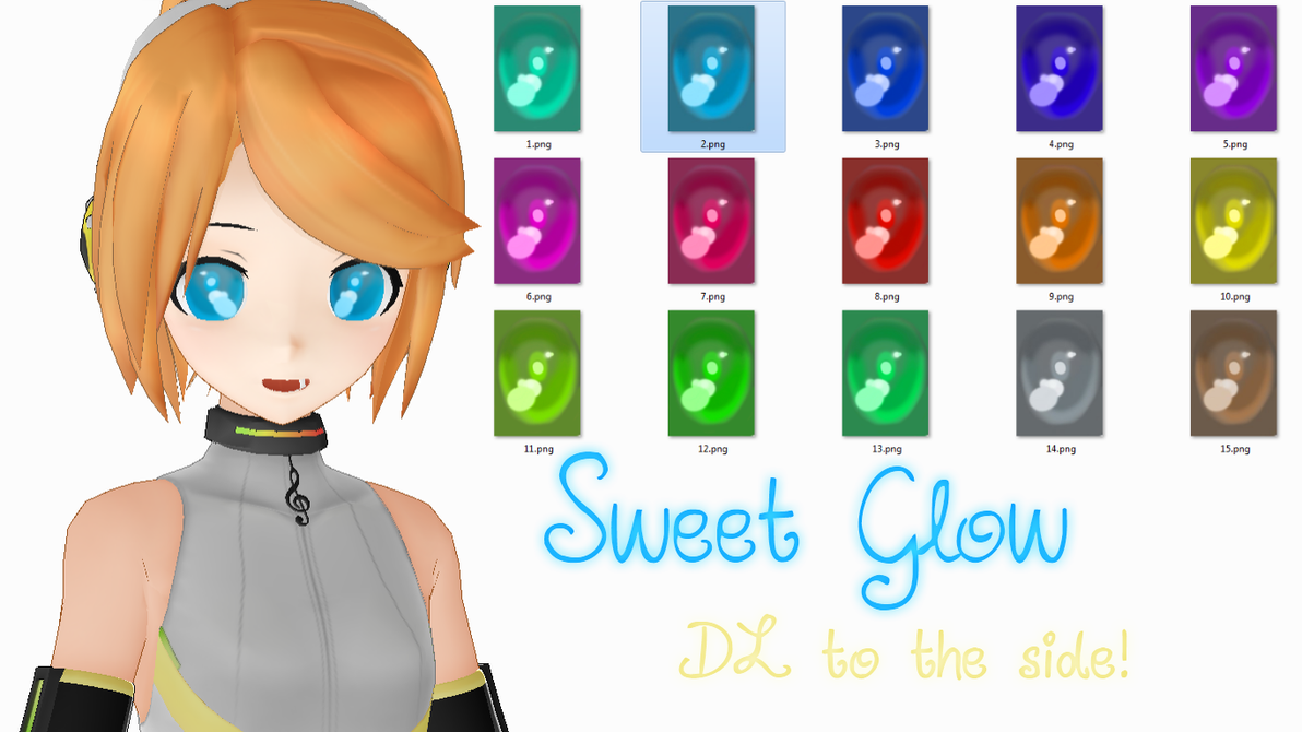 .:MMD:. Sweet Glow Eye texture DL by MMD-Rawrz