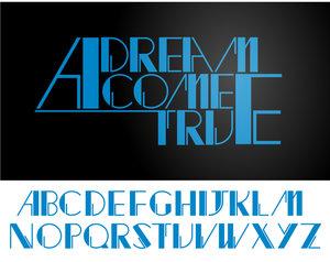 wonderful world retro font by thinkLuke