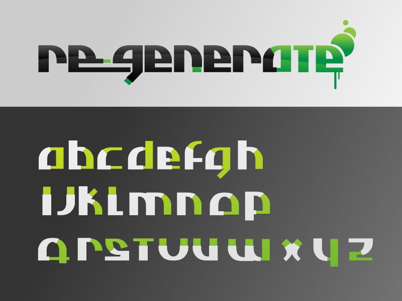 regenerate font by thinkLuke