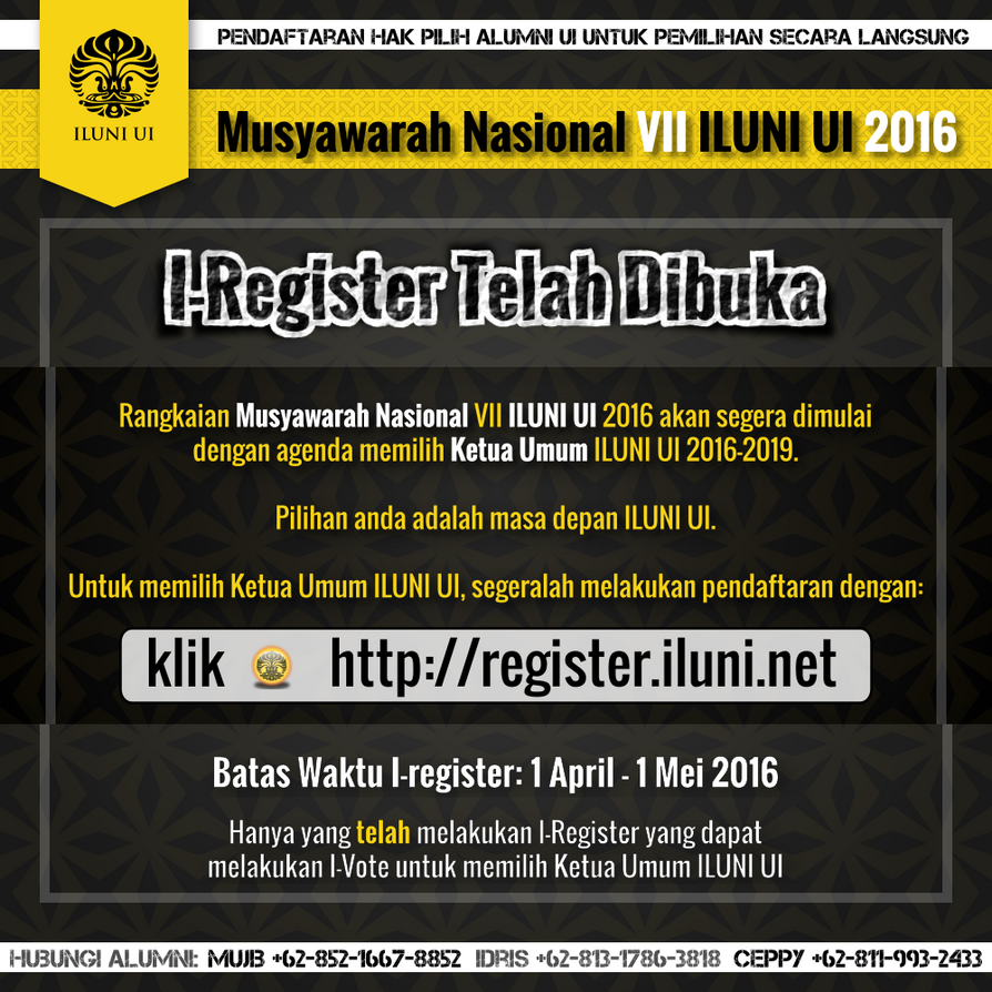 Munas ILUNI UI - i-Registrasi (dark) by nurwijayadi on DeviantArt on