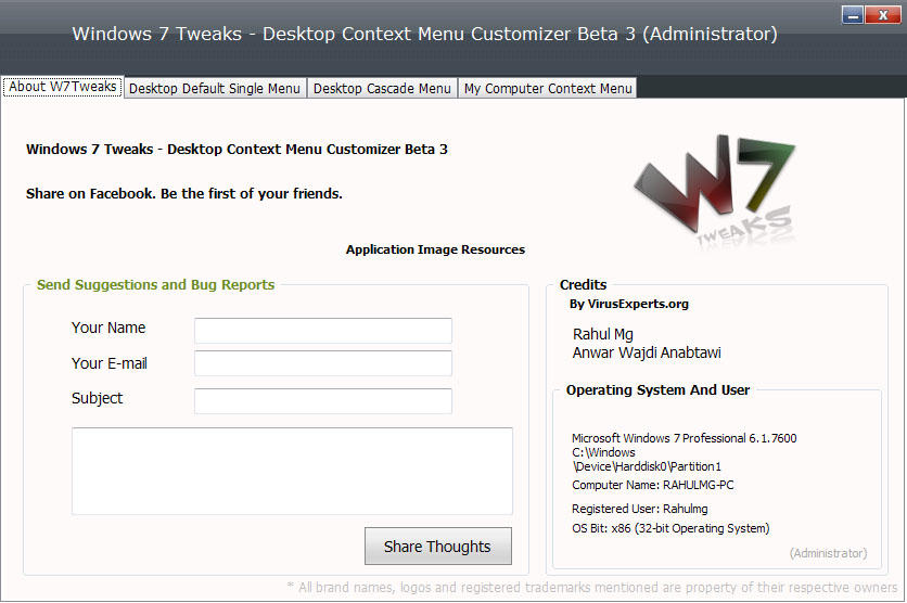 W7T Desktop Cascade Context by rmgrms