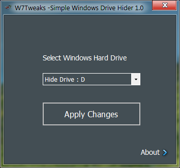 W7T - Simple Windows Drive Hider