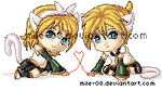 Pixel Rin and Len