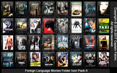 Foreign Language Movies Folder Icon Pack-5