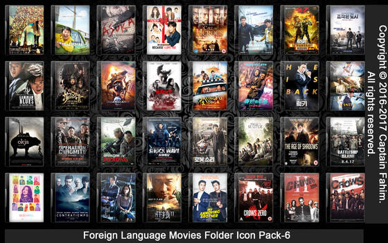 Foreign Language Movies Folder Icon Pack-6